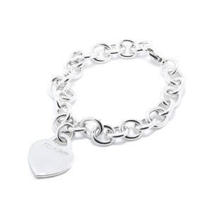 Tiffany & Co Heart Tag Charm Bracelet